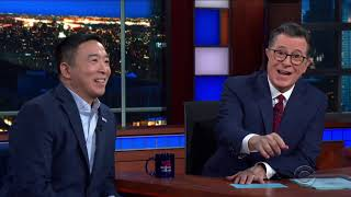 Download Andrew Yang's Full Interview on the Late Show with Stephen Colbert Video
