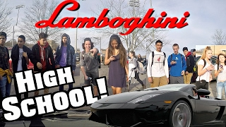 Download Driving My Lamborghini To High School At 17! Funny Supercar Reactions!! Video