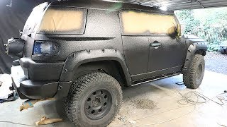 Download FJ Cruiser Build Pt 7 - DIY Truck Bed Liner Paint Job Video