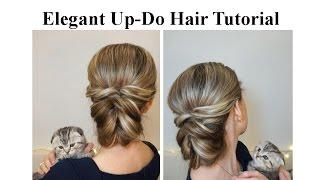 Download Повседневная прическа с резинками ♥ Деловая прическа ♥ Elegant Up-Do Hair Tutorial Video