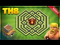 Download NEW! TOWN HALL 8 (TH8) TROPHY BASE/DEFENSE BASE DESIGN 2017-Clash Of Clans Video