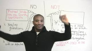 Download How to use NO & NOT in English Video