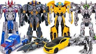 Download Transformers 5 TLK TURBO Changer Megatron Optimus Prime Bumblebee Grimlock Car Dinosaur Robot Toys Video