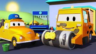 Download El lavado de Autos de Tom La Grúa: La Aplanadora | Dibujos animados para niñas y niños Video