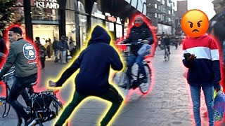 Download ANGRY BIKER ALMOST HITS ME! *JUKING OUT STRANGERS* Video