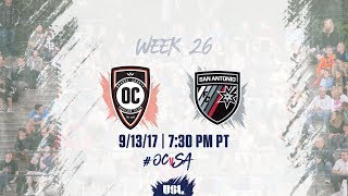 Download USL LIVE - Orange County SC vs San Antonio FC 9/13/17 Video