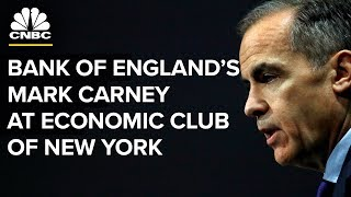 Download LIVE: Bank of England Governor Mark Carney speaks at the Economic Club of New York - Oct. 19, 2018 Video