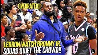 Download LeBron James Watches Bronny Jr & Squad Respond to OVERRATED Chants! Northcoast Blue Chips TOO OP!! Video
