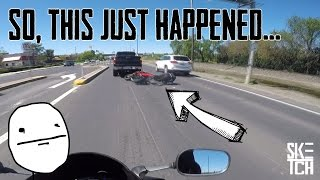Download Motorcycle CRASH - PANIC-BRAKING and SLIDING UNDER A TRUCK Video