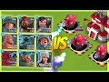 Boom Beach 3 MAX Hot Pots VS EVERY SINGLE Troop! Insane Splash Damage!