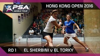 Download Squash: Hong Kong Open 2016 - El Sherbini v El Torky - Rd 1 Highlights Video