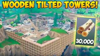 Download Rebuilding Tilted Towers with 30,000 WOOD! - Fortnite Funny Fails and WTF Moments! #240 (Daily) Video