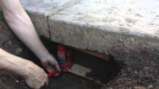 Download Lifting a Sunken Concrete Driveway Slab DIY Video