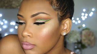 Download Green Glitter Cut Crease | AALIYAHJAY Video
