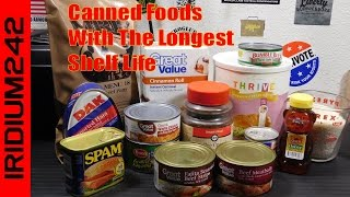 Download Canned Foods With Longest Shelf Life For Prepping Video