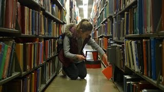 Download Mugar Library Behind the Scenes During Study Week Video