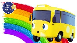 Download Rainbow Bus - Learn Colors   Go Buster   +More Nursery Rhymes and Baby Songs   Little Baby Bum Video