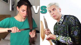 Download PRO HAIRDRESSER FOLLOWS A DIY HAIRCUT TUTORIAL Video