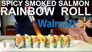 Download Level 2 Walmart Sushi Challenge | Spicy Smoked Salmon Rainbow Roll Video