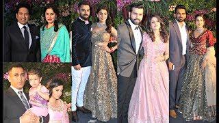 Download Indian Cricketers And Their Wives At Virat Kohli - Anushka Sharma Mumbai Reception Video