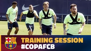 Download Players return to training to prepare for Copa del Rey Final Video