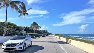 Download Beach Town Driving - Rich & Famous - Palm Beach Florida USA Video