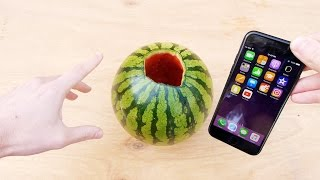 Download Don't Pour Hot Piranha Acid in Watermelon with iPhone 7! Video