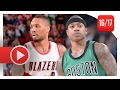 Download Damian Lillard vs Isaiah Thomas PG Duel Highlights (2017.02.09) Celtics vs Blazers - EPIC! Video