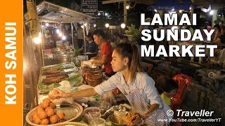 Download Lamai Sunday Market - Just the food! - Koh Samui holiday attractions - Thai Street food at its best Video