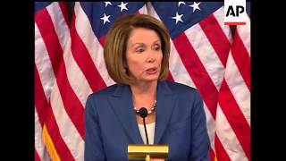 Download House Speaker Nancy Pelosi hailed the victory of Barack Obama in Tuesday's election and said she tho Video