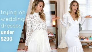 Download TRYING ON 5 AFFORDABLE WEDDING DRESSES | UNDER $200 Video