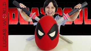 Download GIANT DEADPOOL PLAY-DOH Surprise Egg with MARVEL & Disney Toys, RARE Figures and BIG Surprises Video