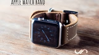 Download Leather Apple Watch Band #042 - Handmade by JooJoobs Video