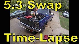 Download LSx 5.3 Swap Time Lapse - '87 Chevy Truck C10 R10 LS1 Video