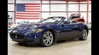 Download 2011 Maserati Gran Turismo Convertible Blue Video