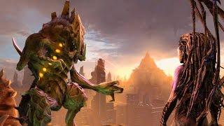 Download Dehaka and Kerrigan Destroy Anti-Zerg Psi Generator on Korhal (Starcraft 2: Heart of the Swarm) Video