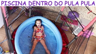 Download PISCINA DENTRO DO PULA PULA /CAMA ELÁSTICA - VALENTINA Video