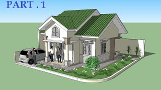 Download Sketchup tutorial house design PART 1 Video