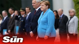 Download Angela Merkel shaking for third time in as many weeks Video
