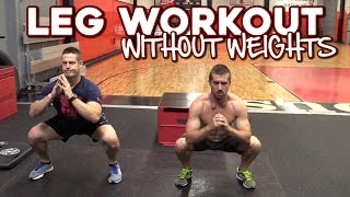 Download Leg Workout without Weights | 6 Exercises for Strong Legs Video