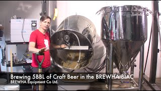 Download Brewing 5BBL of Craft Beer in the BREWHA BIAC microbrewery Video