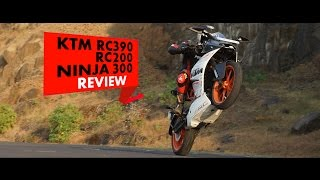 Download KTM RC390, RC200, Ninja 300 : Review : PowerDrift Video