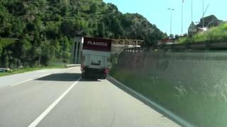 Download Driving from Brig to Luzern Switzerland/ Realspeed Video