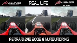 Download Real Life Vs Assetto Corsa - Ferrari F1 248 2006 @ Nurburgring Video