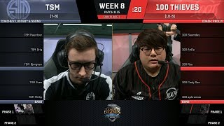 Download TSM vs 100T| Week 8 Day 2 - NA LCS SUMMER 2018 | Team SoloMid vs 100 Thieves Video