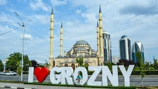 Download The Grozny city in Chechnya, Virtual trip view from the Air Video