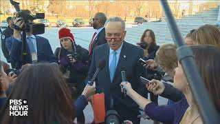 Download WATCH: Senate Democratic Leader Chuck Schumer statement after meeting with President Trump Video