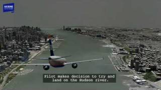 Download Hudson River Plane Landing (US Airways 1549) Animation with Audio Video