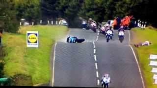 Download Ulster GP 2014 - Anstey highside causes carnage behind Video