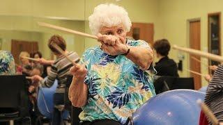 Download Making exercise fun through drumming Video